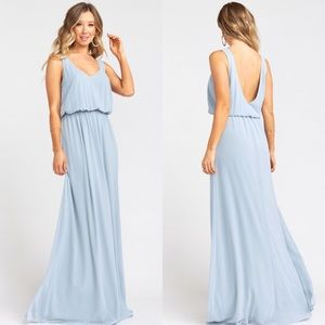 Show Me Your MuMu Kendall Maxi Dress Steel Blue